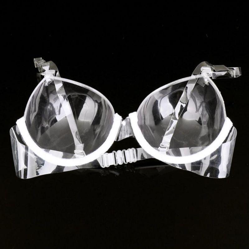 Transparent Women Underwire Strap Invisible Ladies Bralette Clear Push Up Bra