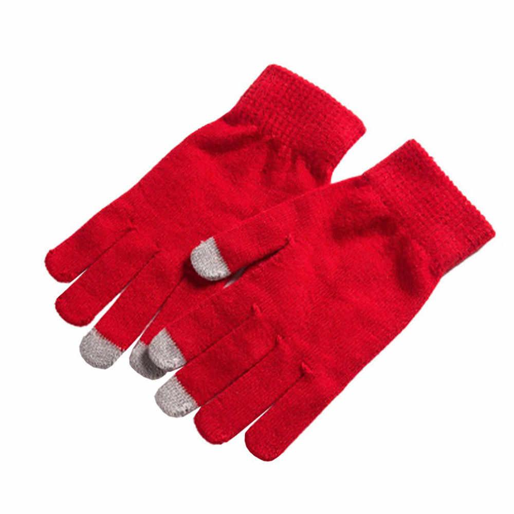 2019 autumn Winter new Men Women Winter Gloves For Smart Phone Tablet Full Finger Mittens touch screen gloves warm gloves #O16