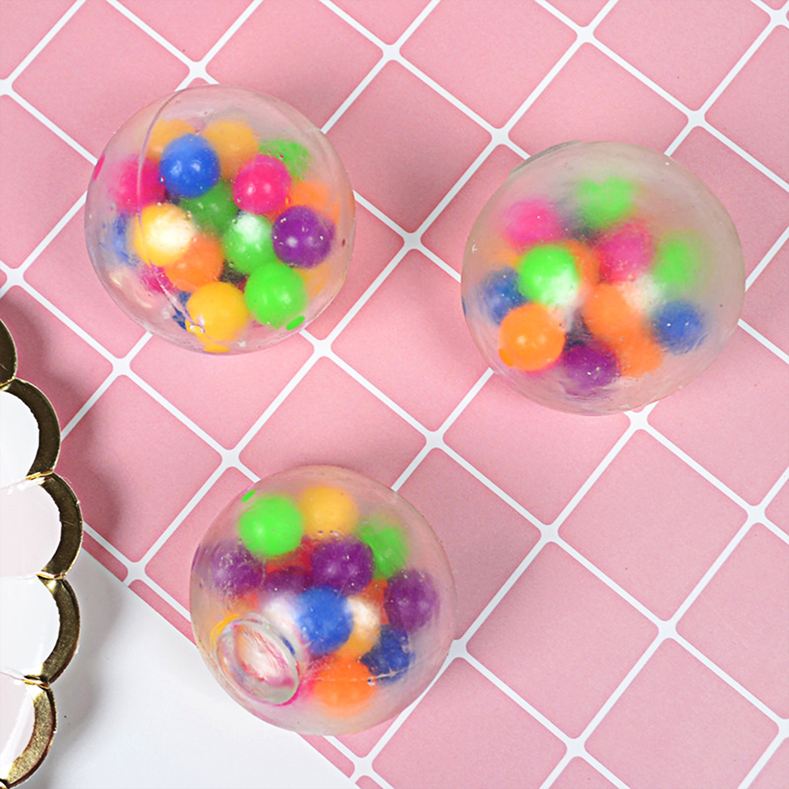 Squishy Toy Anti-Stress-Toys Rainbow-Ball Bead Squeezable-Stress Spongy Hot-Sale img5