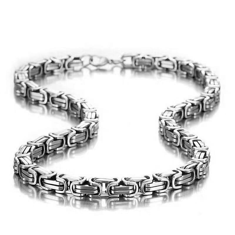 Мужская цепь из титановой стали 316L шириной 5 мм, имперская цепь, модное ожерелье из нержавеющей стали в стиле хип-хоп, рок, длина 60/70 см