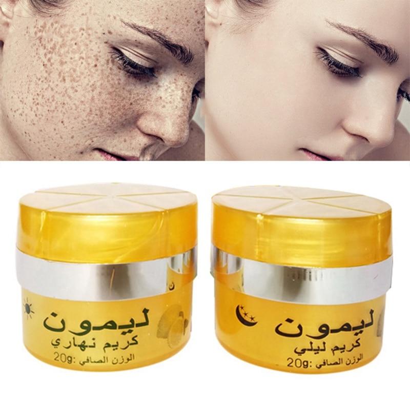 Effective Lemon Whitening Cream Remove Freckle Melasma Acne Spots Pigment Melanin Face Care Cream