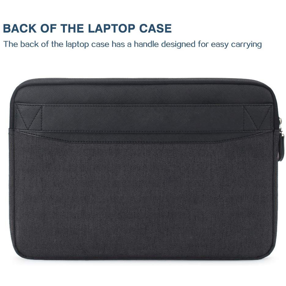 Laptop Sleeve Laptop Case Bag Protective Shockproof Computer Protective Bag Notebook Carrying Case Black and White Clipart