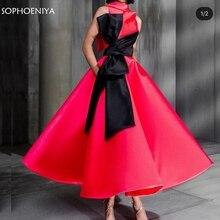Avondjurk-Robe Evening-Dress Short Soiree-Dubai Black Red High New-Arrival