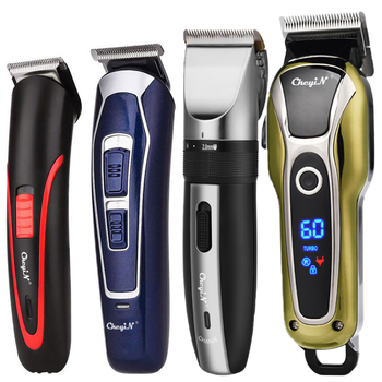 Professional Hair Clipper Mens Barber Rechargeable Cutting Machine Beard Trimmer Electric Cordless Cutter Low Noise 5