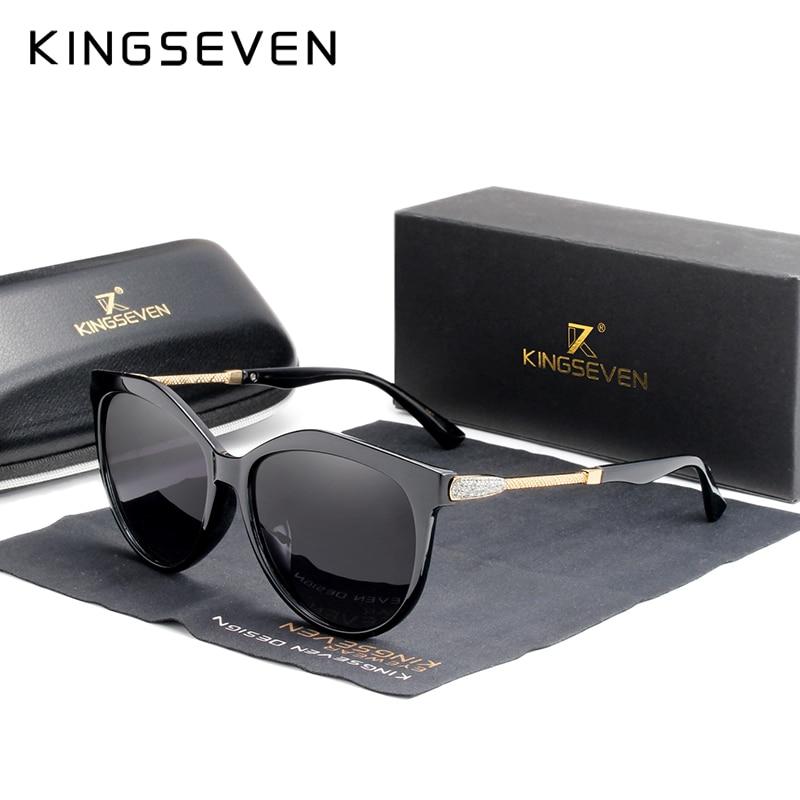 KINGSEVEN 2020 Polarized Women's Sunglasses Gradient Lens Luxury Sun Glasses Brand Lentes De Sol Mujer