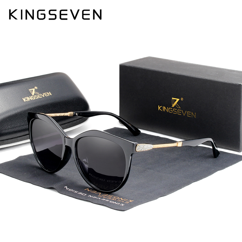 Kingseven 2020 polarizado óculos de sol feminino lente gradiente óculos de sol luxo marca lentes sol mujer