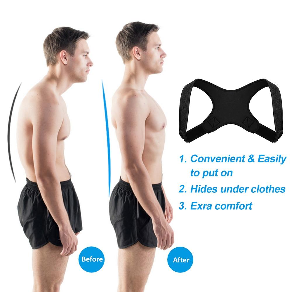 Adjustable Medical Back Posture Corrector Clavicle Spine Back Shoulder Lumbar Brace Support Belt Posture Correction Unisex 2