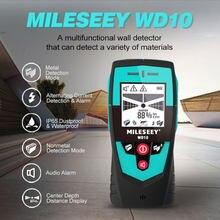 Mileseey-Detector de pared multifunción con Sensor de área grande, Detector de metales, manual, escáner de pared, Detector de cables