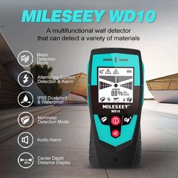 Mileseey Multifunction Wall Detector with Large Area Sensor Metal Detector Handheld Stud Finder Wall Scanner Wire Detector smart sensor ar944m under ground metal detector scanner finder
