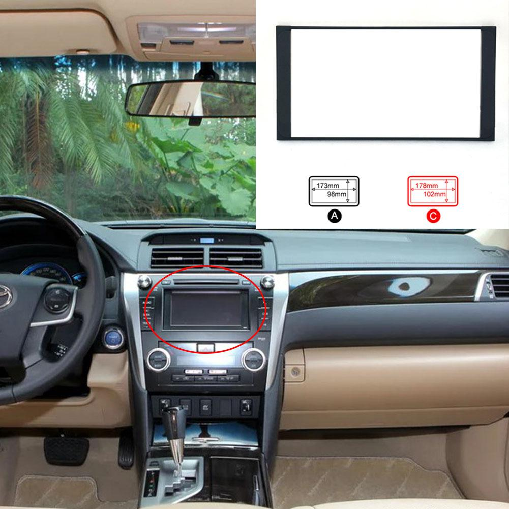 2 Din Frame Car Radio Refitting DVD Frame Panel Dash Kit for Toyota Camry Car-styling Accessories kit multimidia para carro image