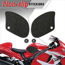 Motorcycle fuel tank pad tank grip protection Non slip stickers knee grip side applique for  SUZUKI 2000 2018 HAYABUSA
