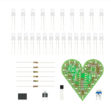 DIY Kit Heart Shape Breathing Lamp Kit Breathing LED Suite Red White Blue Green Electronic Production for Learning laboratory