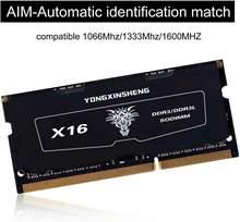 Module de mémoire vive SODIMM DDR3L, 4/8 go, 1600MHz ou 1.35V, pour ordinateur portable, Notebook, avec autocollant noir