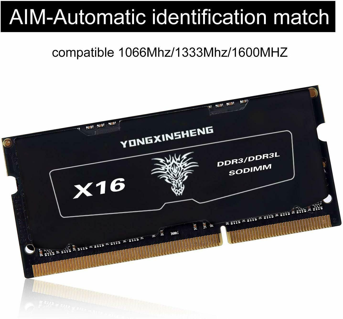DDR3L 4GB 8GB 1600MHz PC3-12800S 1.35V SODIMM bellek ram modülü dizüstü dizüstü siyah etiket