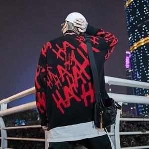 Image 5 - Mens Skull Sweater Streetwear Pullover Joker O Neck Long Sleeve Fashion Hip Hop Mens Autumn Sweater Loose
