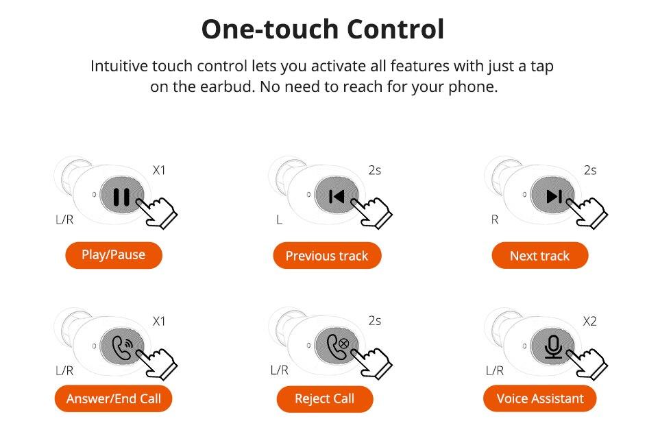 Tronsmart Spunky Beat TWS Bluetooth 5.0 Earphone APTX Wireless Earbuds with QualcommChip CVC 8.0 Touch Control Voice Assistant (8)