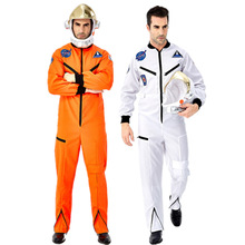 Astronaut Costume Helmet Jumpsuit Cosplay Outfit Purim Carnival Adult Men for Pilots