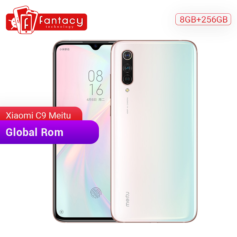 "Global Rom Xiaomi Mi CC9 Meitu Custom Version CC 9 8GB 256GB 6.39"" AMOLED Mobile Phone Snapdragon 710 48MP Triple 32MP HD Camera"