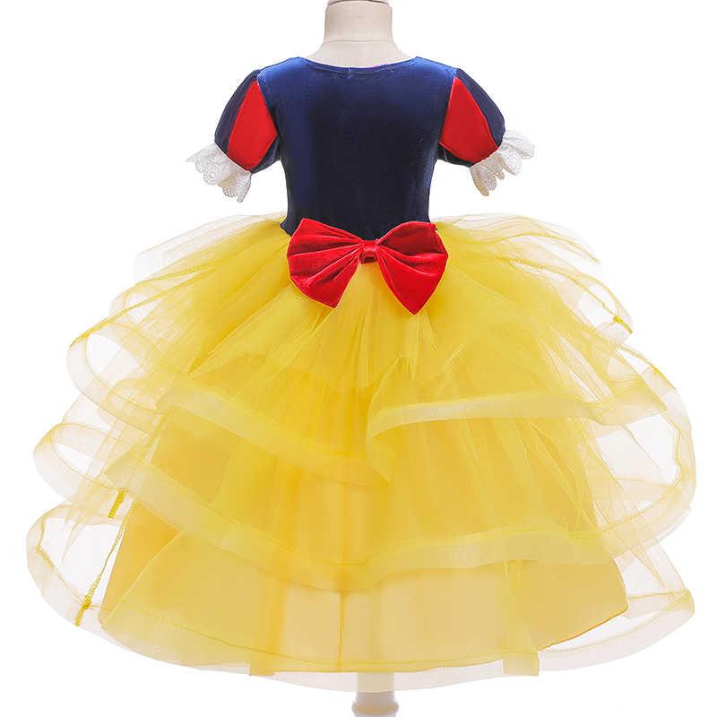 Платье Белоснежки костюмы принцессы для ролевых игр нарядная Рождественская одежда Детские платья для девочек, элегантные вечерние бальные платья-пачки