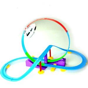 Oferta, regalos de fiesta en 3D, tren rápido, montaña rusa, juguete, Tren Eléctrico, coche para juguetes educativos ensamblados, rompecabezas de regalo para niños