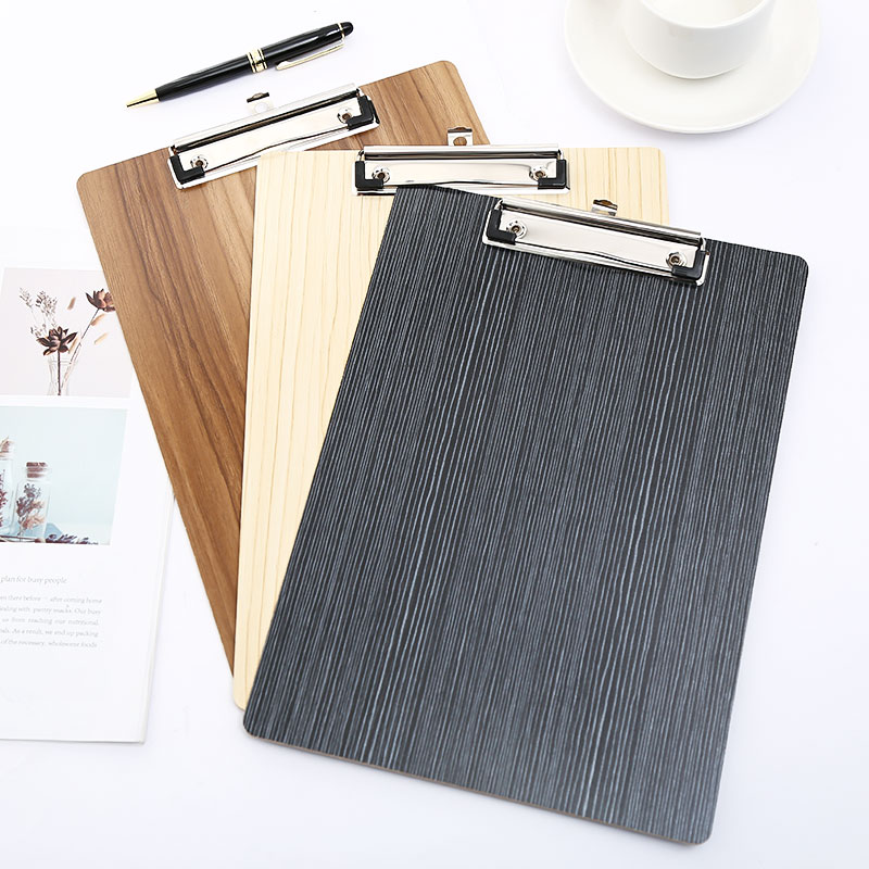 A4 Paper Clipboard Wood Nurse Exam Board Stationery For School Clip File Folder Writting Board With Storage Office Supplies