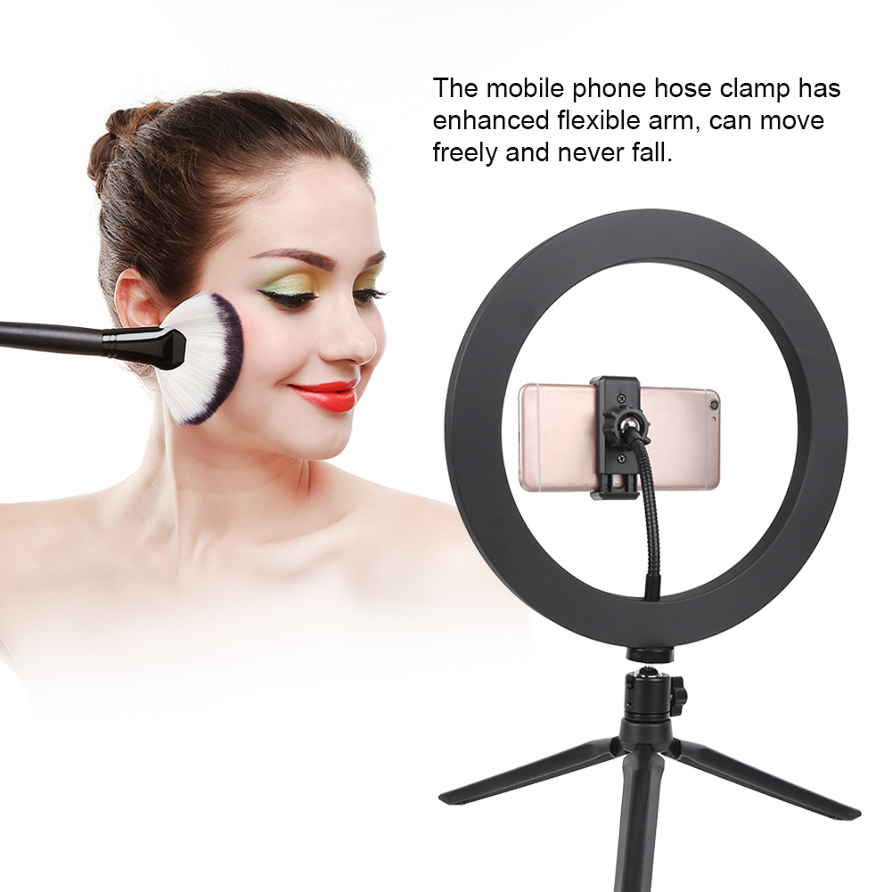 cheapest 10 Inch 26cm Mobile Phone Led Selfie Ring Light With Tripod Ring Light For Phone Youtube Video Camera Live Studio Make Up Lamp