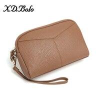 X.D.BOLO Fashion Women Wallets Long Wallet Female Purse Leather Wallets Big Capacity Ladies Coin Purses Phone Clutch Bag