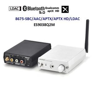 Image 2 - Беспроводной приемник Lusya LDAC Csr8675 Bluetooth 5,0 ES9038Q2M DAC декодирование 24 бит 96 кГц 3,5 м RCA Coaxi для Hi Fi усилителя T0059