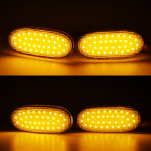 Luces LED de indicador lateral para coche, lámpara repetidora lateral de 12V, Panel de luz de señal de giro para Volkswagen Crafter para Benz Sprinter W906, 36LED