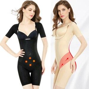 Image 1 - Wechery femmes classeurs et Shapers pleine longueur body femme minceur Shaper 3XL grande taille ceinture Sexy Floral Shapewear