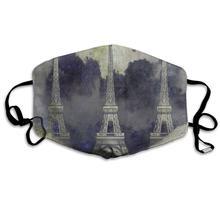 ZHOUSUN a prueba de polvo Vintage abstracto París Torre Eiffel cubierta de la boca máscara protectora caliente máscara cortaviento