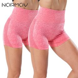 NORMOV 1/2 PCS Seamless Running Shorts High Waist Gym Shorts Scrunch Butt Fitness Compression Shorts Push Up Biker Shorts Women