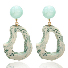 2019 New Womans earrings luxury Acrylic Colorful Metal  Korea Geometry Stone Aristocratic Glamour For Wedding Banquet Jewelry