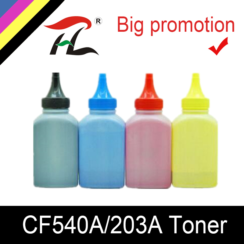HLT Color toner Powder for CF540 203A CF540a toner cartridge for HP Color LaserJet Pro M254dw 254nw MFP M281cdw 281fdw 280nw