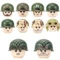 Второй мировой войны, американское воздушное подразделение 101st, армейские солдаты, фигурки, строительные блоки, военное пехотное оружие, шл...