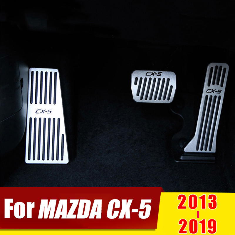 For <font><b>Mazda</b></font> <font><b>CX5</b></font> CX-5 2013 2014 2015 <font><b>2016</b></font> 2017 2018 2019 Car Accelerator Brake Pedal Foot Rest Pedal Pad No Drill Cover Accessories image