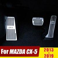 Para mazda cx5 CX-5 2013 2014 2015 2016 2017 2018 2019 acelerador do carro pedal de freio pé resto almofada pedal sem broca capa acessórios