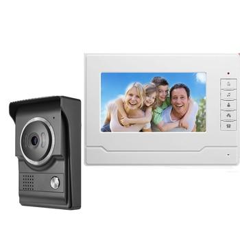 """Yobang Security Video Door phone Intercom System Home Security 7"""" LCD Audio Video Intercom Door Bell Door Bell Video Doorphone"""