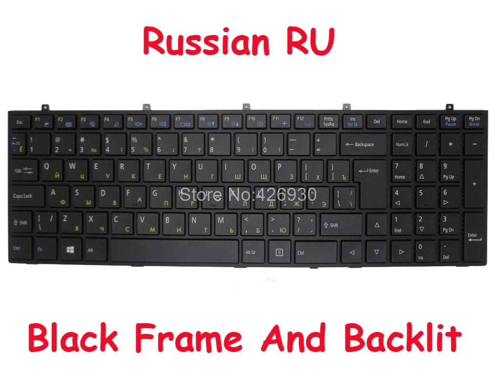 Laptop Keyboard for CLEVO W670RBQ W670RBQ1 W670RZW W670RZW1 W670RCQ W670RCQ1 W670RCW W670RCW1 W670RNQ W670RNQ1 W670RZQ W670RZQ1 Brazil BR with Grey Frame and Backlit