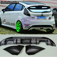 Fiesta MK7 ST estilo ABS parachoques trasero difusor de labio paragolpes delantal divisor para Ford Fiesta MK7 2013 2018