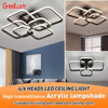 Modern Acylic Led Dimming Ceiling Chandelier Lamp Square LED Plafon  Light Fixtures lustre plafonnier with Remote for Home Decor review