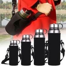 Açık taşınabilir spor su şişesi taşıyıcı yalıtımlı fincan kapak çanta tutucu