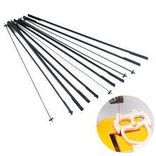 Paquete de 12, 16 cuchillas de Sierra de calar Plástico Industrial, herramientas de corte de madera y Metal, Accesorios de herramientas eléctricas para carpintería