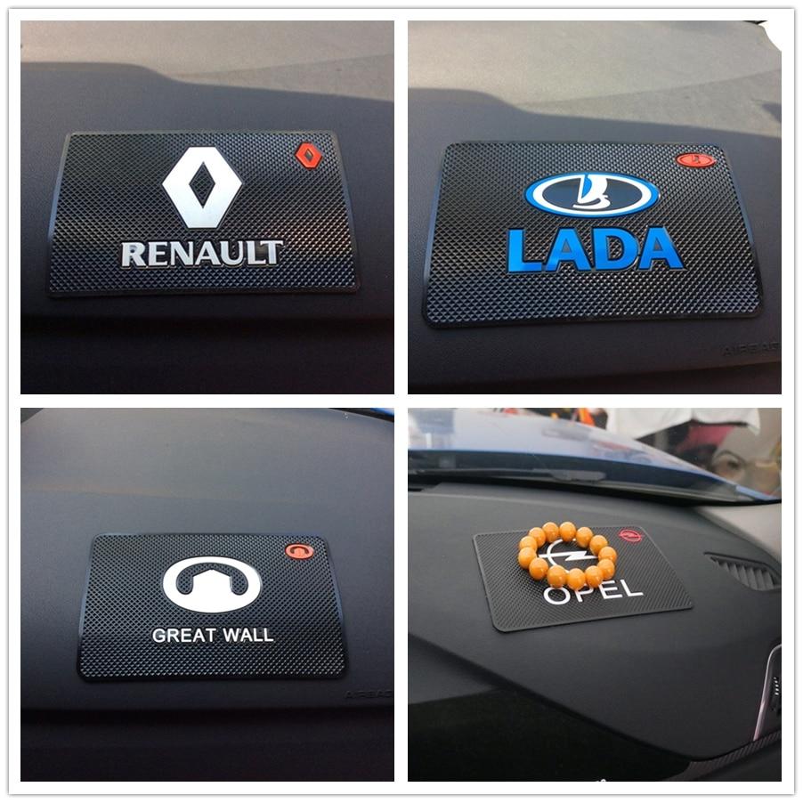 1PCS רכב סטיילינג רכב מחצלת לוגו עבור רנו מגאן 2 3 הדאסטר לוגן קליאו 4 3 לגונה 2 sandero סניק 2 Captur Fluence Kangoo
