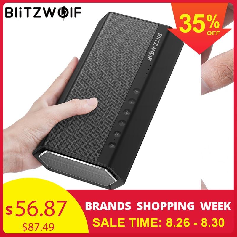BlitzWolf 40 W 5200 mAh Double pilote Portable sans fil bluetooth haut-parleur 30 W renforcé haut-parleur mains libres haut-parleur