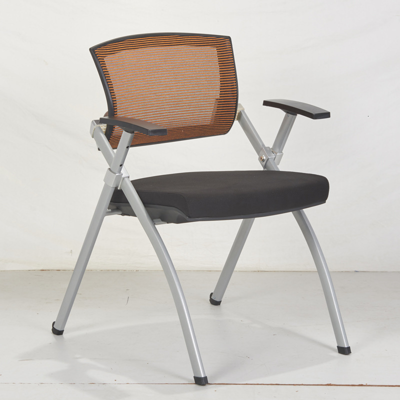 Training Chair With Writing Board, Mesh Folding Chair, Meeting Room, School Metal Aluminum Alloy Training Chair Pulley