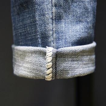 Ripped Jeans Men Slim Fit Light Blue Stretch Fashion  5