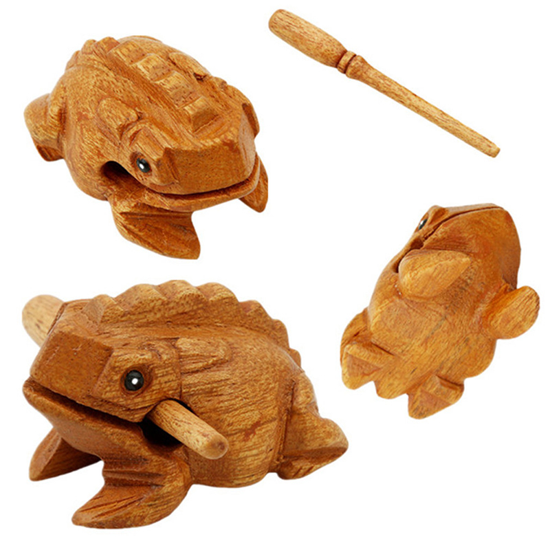 Kids Toy Musical Decompress Toys Money Lucky Frog Traditional Wooden Musical Instrument Percussion Rasp Brinquedos Gift