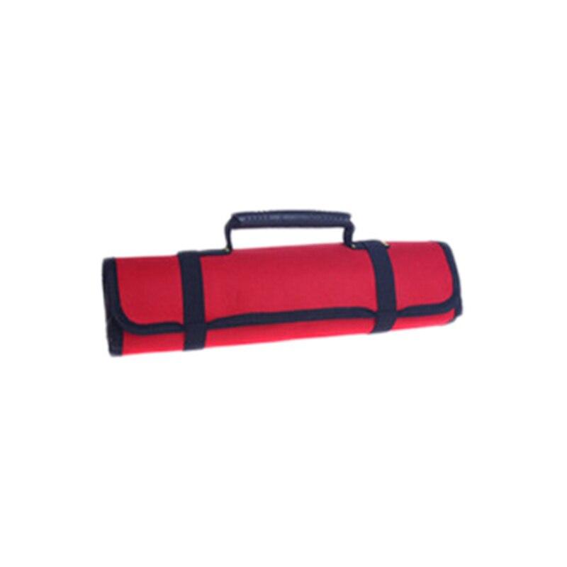 Многофункциональные сумки для инструментов, практичные ручки для переноски, Оксфордский холст, долото, рулон, сумки для инструментов, 3 цвета, чехол для инструментов - Цвет: Red