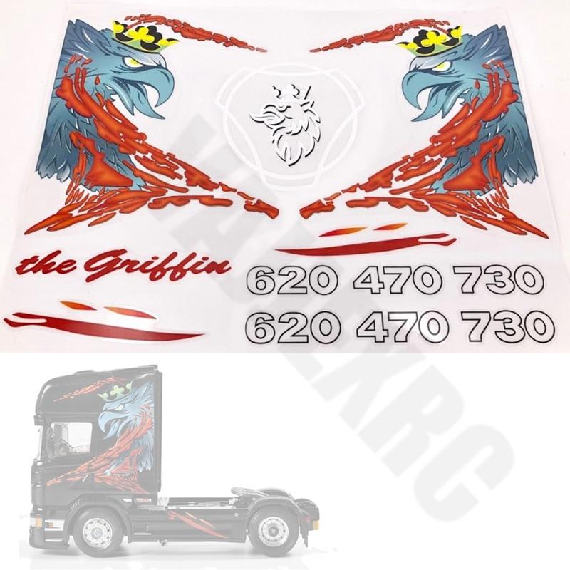 LESU Logo Sticker Decoration for 1//14 Tamiya Scania R620 DIY RC Tractor Truck